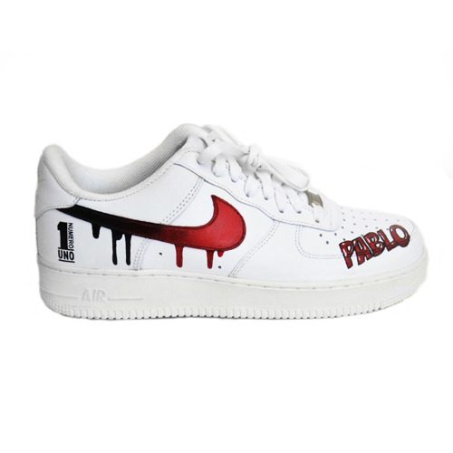 Buty Nike WMNS Air Force 1 Low All White Custom OFF WH Stripes & Flowers 315115 112