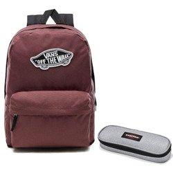 b09b00f366060 Plecak VANS Realm Backpack + piórnik Eastpak Oval S