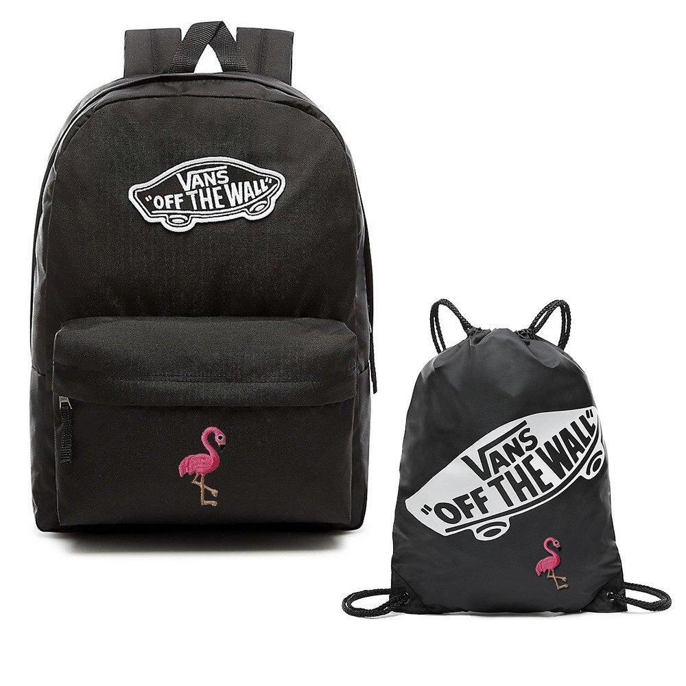 2cf477e78e6e5 Plecak VANS Realm Backpack Custom Flaming + Worek VANS Custom ...