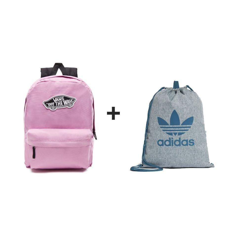 c66051478291 Plecak Vans Realm Classic Backpack róż - VN0A3UI6VLT 297 + Worek ...