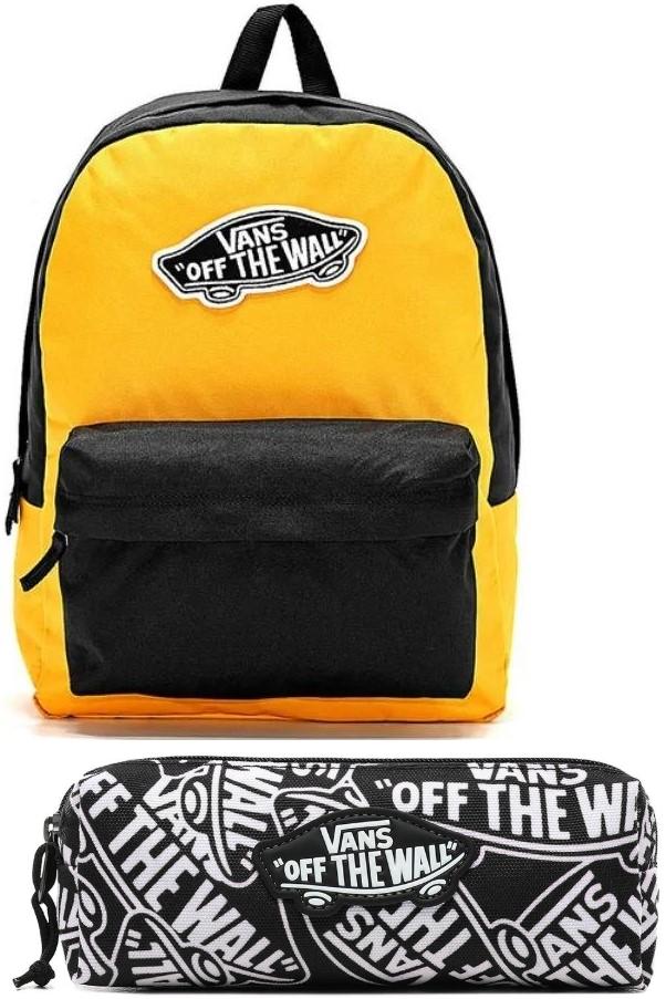 Plecak szkolny Vans Realm VN0A3UI6TVT yellow zółty + Piórnik Vans